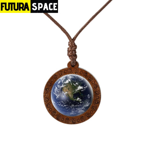 GALAXY WOOD NECKLACE - 17 - 200000162