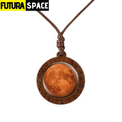 GALAXY WOOD NECKLACE
