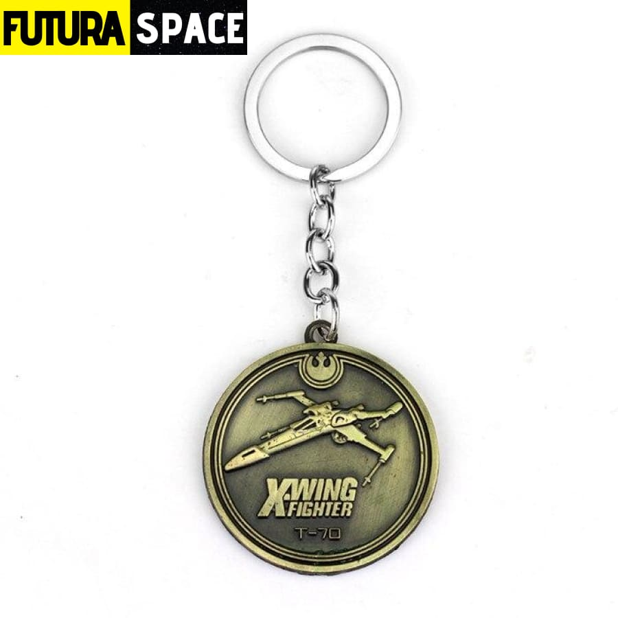 Keychain Spaceship X - bronze - 200000174