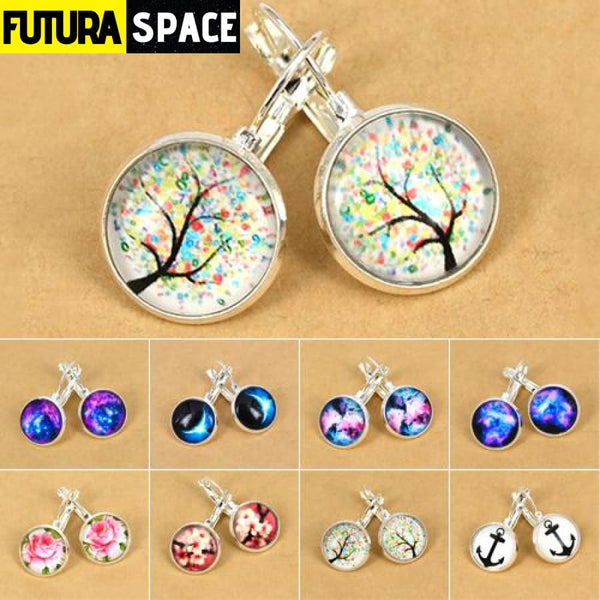 LADIES GALAXY EARRINGS - 200000168