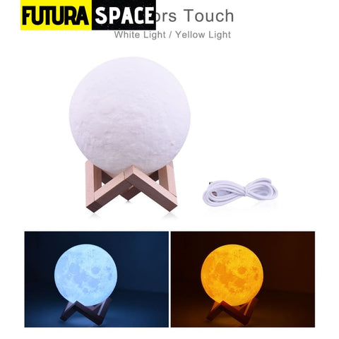 Moon Lamp 3D - 2 colors touch / Moon 10cm - 39050508
