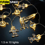 Night Light - Spaceship Rocket LED - 1.5m 10 lights -
