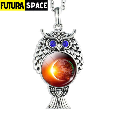 OWL GALAXY NECKLACE - size 3 - 200000162