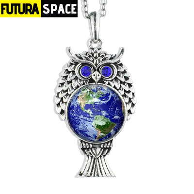 OWL GALAXY NECKLACE - size 8 - 200000162