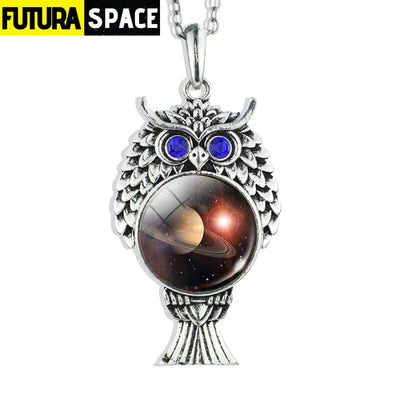 OWL GALAXY NECKLACE - size 5 - 200000162
