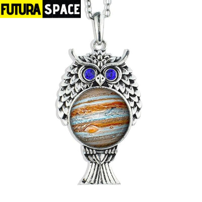 OWL GALAXY NECKLACE - size 9 - 200000162