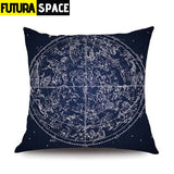 Pillow Case Moon Universe - 45x45cm Single Side / STYLE 14 -