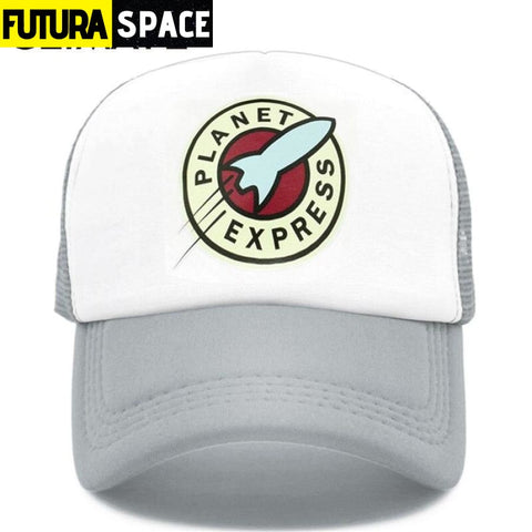 PLANET EXPRESS TRUCKER CAP - Gray / Fits 55to58cm head -