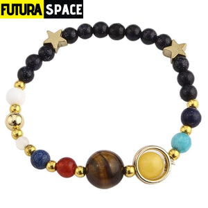 PLANETS BEADS BRACELET - Gold-color - 200000147
