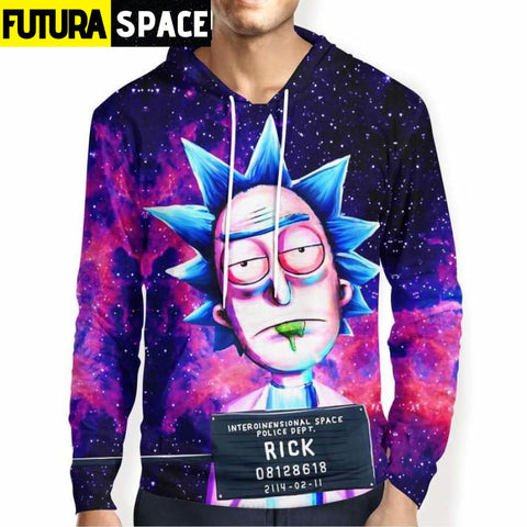 RICK AND MORTY SPACE HOODIE - 200000344