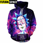 RICK AND MORTY SPACE HOODIE - hoodies men / S - 200000344