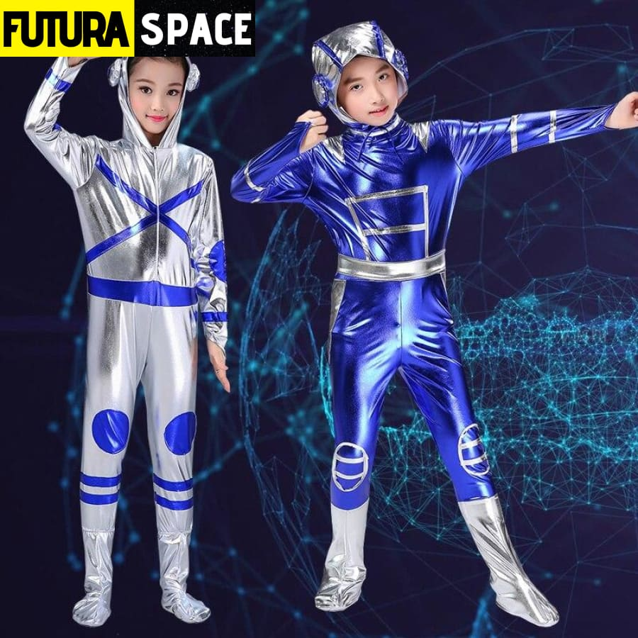 SILVER BLUE ROBOT COSTUME - 200003989