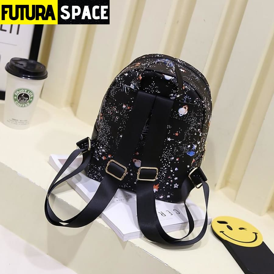 SPACE BACKPACK - Star Universe - Black / 21cmx11cmx25cm -