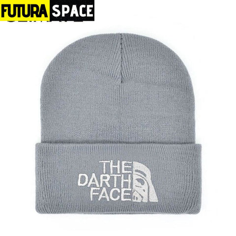 SPACE BEANIES - The Darth Face - Gray - 200000447