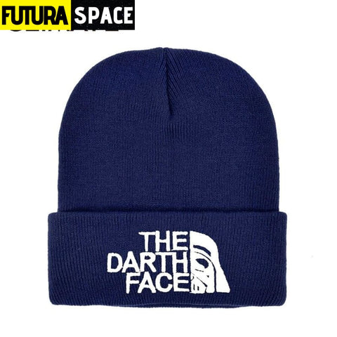SPACE BEANIES - The Darth Face - Navy - 200000447