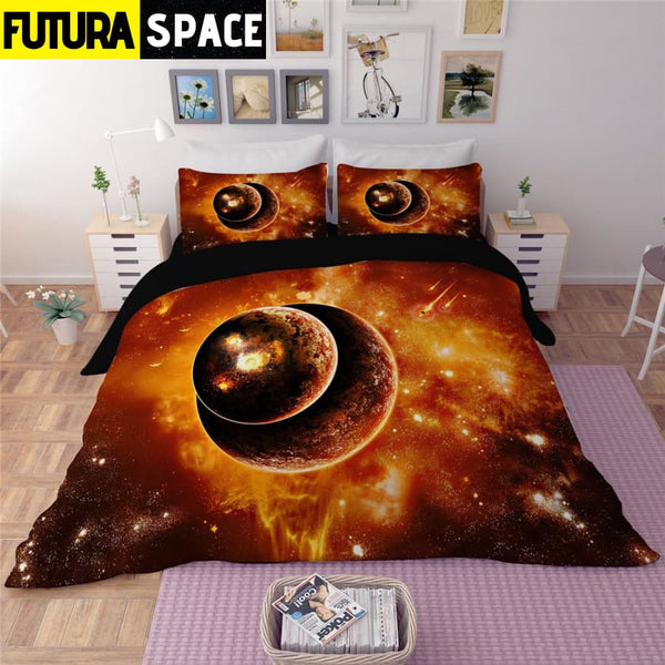 SPACE BEDDING - 3D Fire Star - 40601
