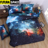 SPACE BEDDING - 3D Hipster Galaxy - 5 / 180X220CM 3PCS -