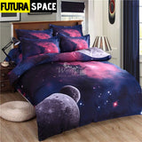 SPACE BEDDING - 3D Hipster Galaxy - 1 / 180X220CM 3PCS -