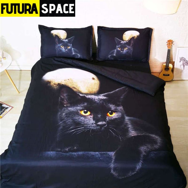 SPACE BEDDING - cat moon 3D - 40601