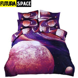 SPACE BEDDING - Galaxy Print - color11 / Twin2Pcs - 40601
