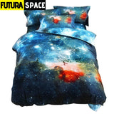SPACE BEDDING - Galaxy Print - color4 / Twin2Pcs - 40601