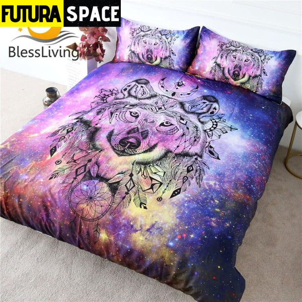 SPACE BEDDING - Galaxy Wolf - 40601