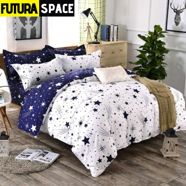 SPACE BEDDING - Star White Blue - 40601