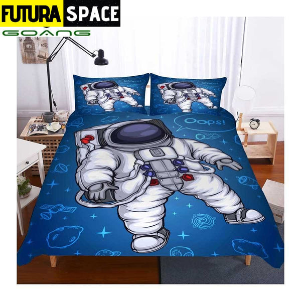 SPACE BEDDING - white astronaut - 40601