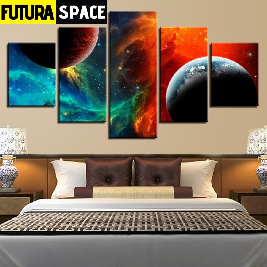 SPACE CANVAS ART - Abstract Landscape - 1704