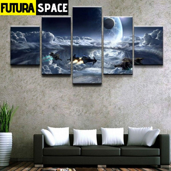 SPACE CANVAS ART - Cloud Planet - 1704