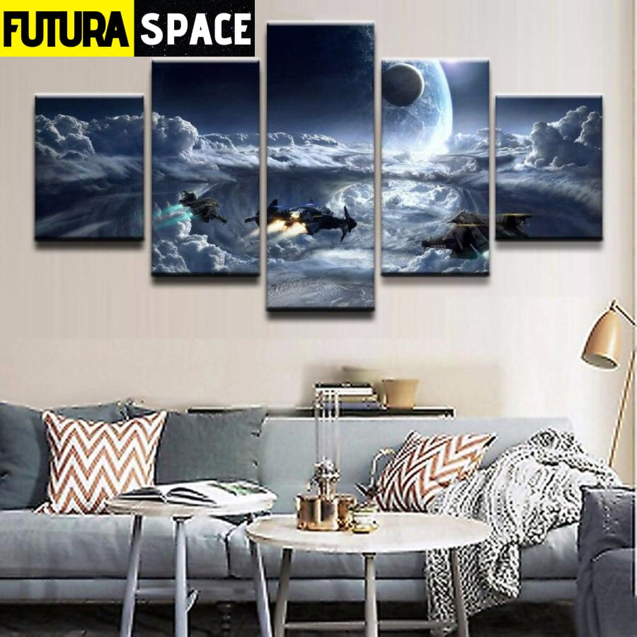 SPACE CANVAS ART - Cloud Planet