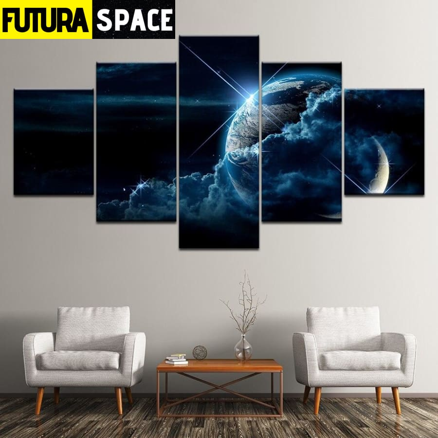 SPACE CANVAS ART - Earth - 1704
