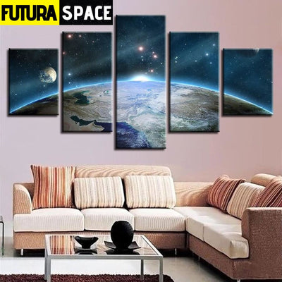 SPACE CANVAS ART - Universe Planet Scenery - 1704