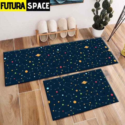SPACE CARPET - 2Pcs Galaxy Planet - 1038 / 120X40cm and