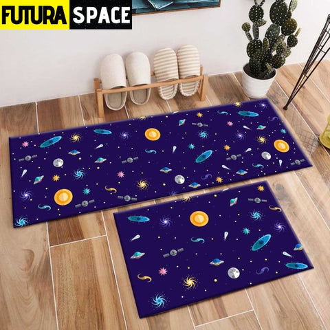 SPACE CARPET - 2Pcs Galaxy Planet - 1037 / 120X40cm and