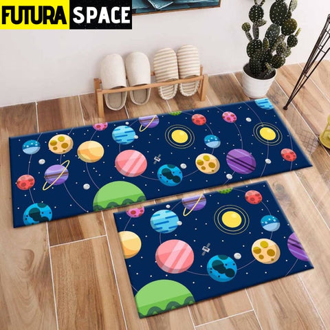 SPACE CARPET - 2Pcs Galaxy Planet - 1036 / 120X40cm and