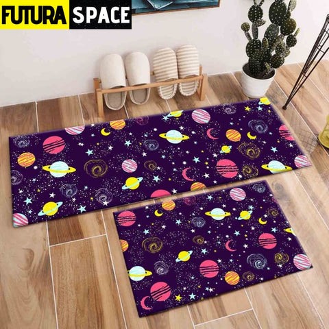 SPACE CARPET - 2Pcs Galaxy Planet - 1049 / 120X40cm and