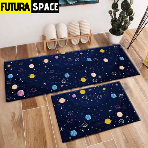 SPACE CARPET - 2Pcs Galaxy Planet - 1057 / 120X40cm and