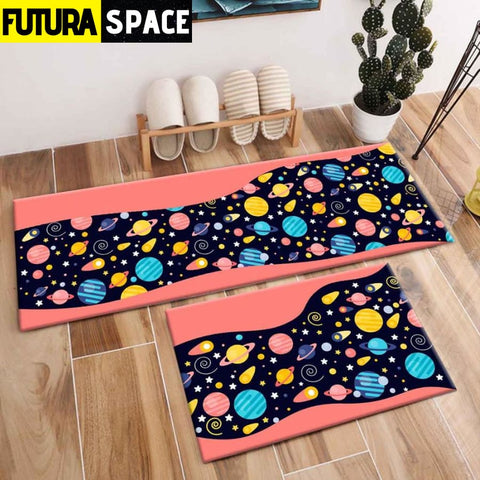 SPACE CARPET - 2Pcs Galaxy Planet - 1052 / 120X40cm and