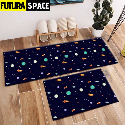 SPACE CARPET - 2Pcs Galaxy Planet - 1035 / 120X40cm and