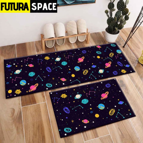 SPACE CARPET - 2Pcs Galaxy Planet - 1058 / 120X40cm and