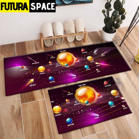 SPACE CARPET - 2Pcs Galaxy Planet - 1032 / 120X40cm and