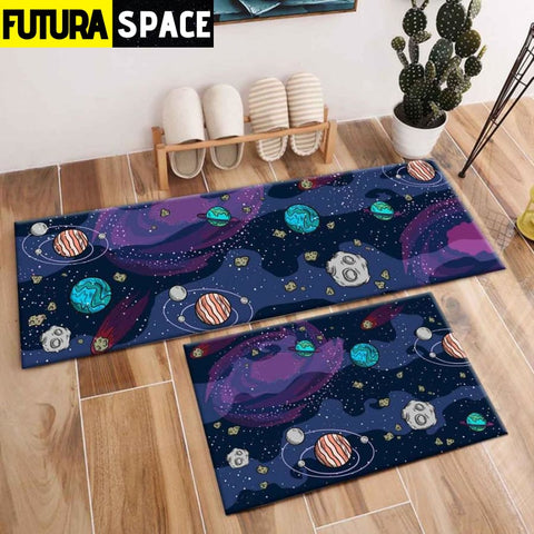 SPACE CARPET - 2Pcs Galaxy Planet - 1047 / 120X40cm and