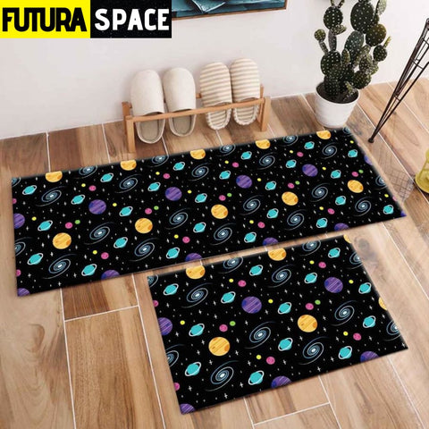 SPACE CARPET - 2Pcs Galaxy Planet - 1042 / 120X40cm and