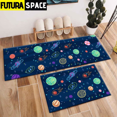 SPACE CARPET - 2Pcs Galaxy Planet - 1043 / 120X40cm and