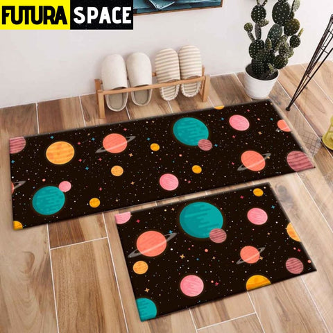 SPACE CARPET - 2Pcs Galaxy Planet - 1040 / 120X40cm and