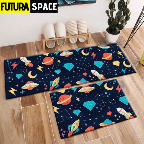 SPACE CARPET - 2Pcs Galaxy Planet - 1044 / 120X40cm and