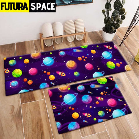 SPACE CARPET - 2Pcs Galaxy Planet - 1033 / 120X40cm and