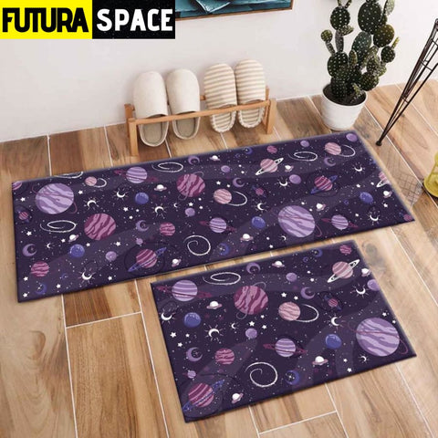 SPACE CARPET - 2Pcs Galaxy Planet - 1045 / 120X40cm and