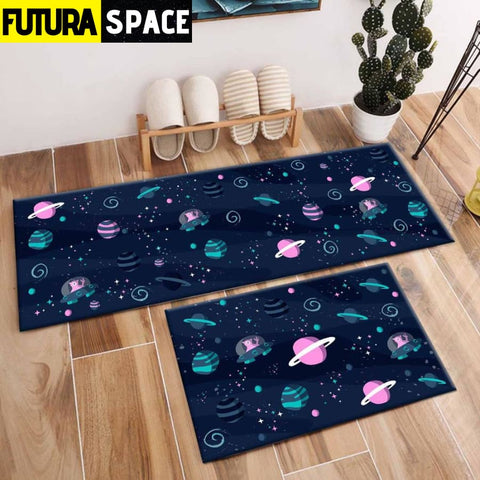 SPACE CARPET - 2Pcs Galaxy Planet - 1048 / 120X40cm and